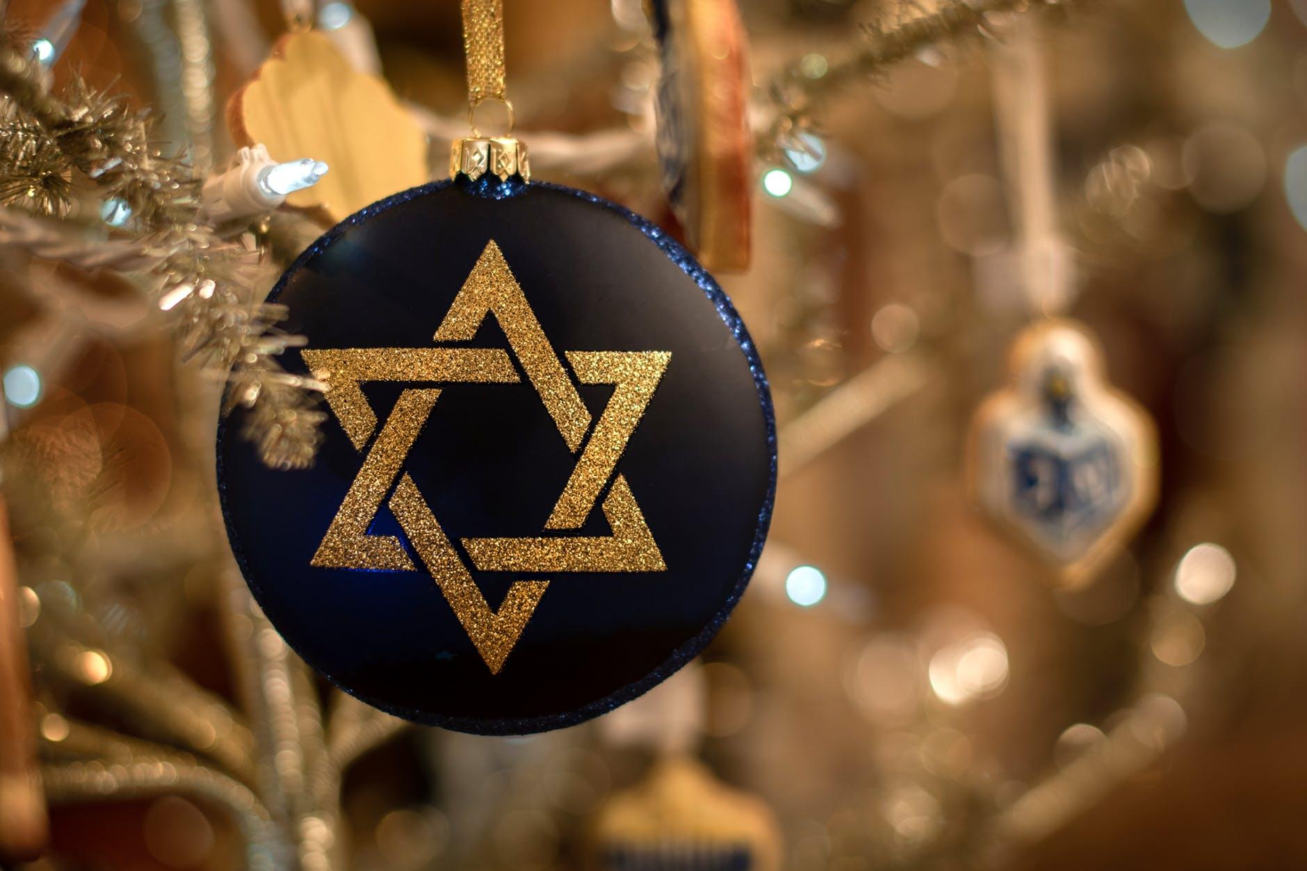 close up photo of star of david ornament